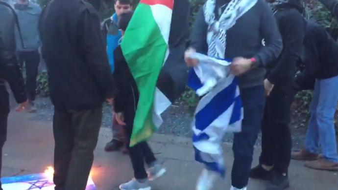 На протестах против столичного статуса Иерусалима жгли израильские флаги