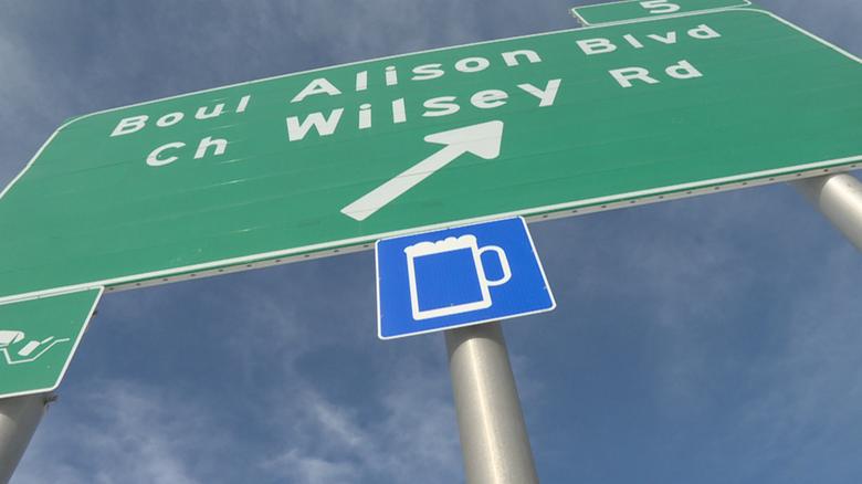 Новый знак на канадских дорогах: «здесь есть пиво»!