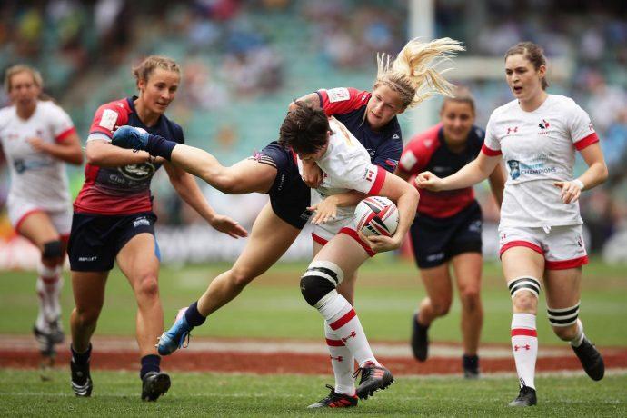 Канадские регбистки— третьи на турнире Sydney Seven