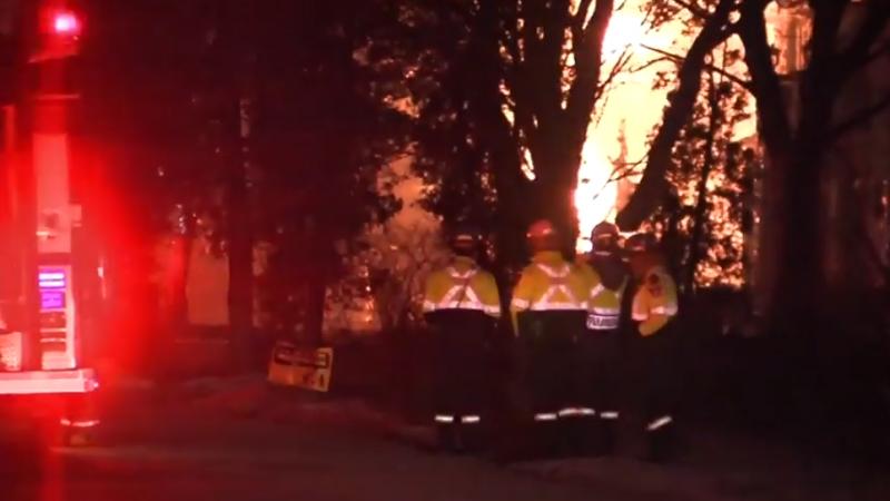 Пожар в престижном райoне Миссиссаги потушен