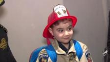 Мечта больного лейкемией мальчишки стать пожарным осуществилась