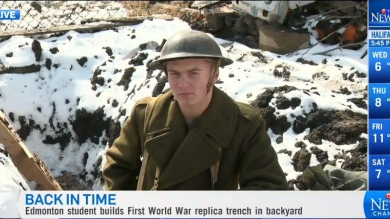 Канадский школьник вырыл окоп Первой Мировой на мамином огороде