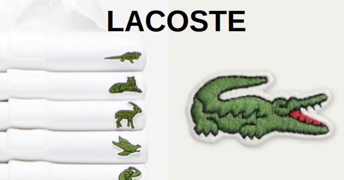 Lacoste временно сменила эмблему