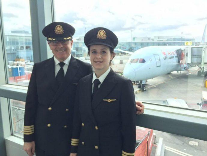 Впервые отец с дочерью пилотировали коммерческий рейс Air Canada