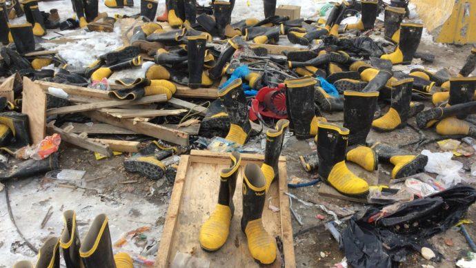 Канадцы с Северо-Западных территорий разобрали обувь на свалке