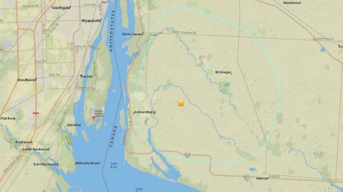 Землетрясение на юго-западе Онтарио. Жертв и разрушений нет