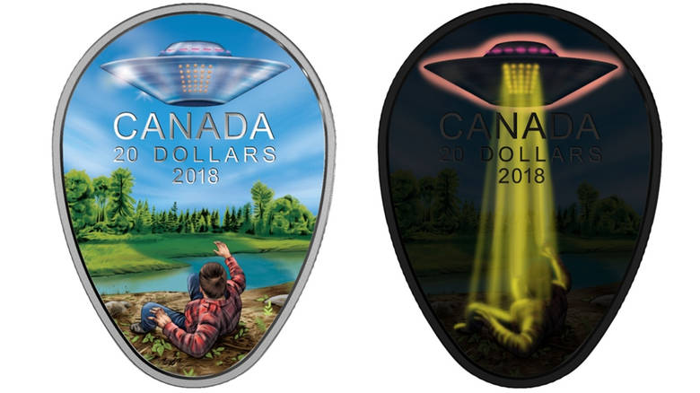 Монета в память о канадской встрече с НЛО