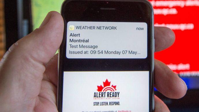 Тест системы «мобильной тревоги» в Квебеке и Онтарио был сорван