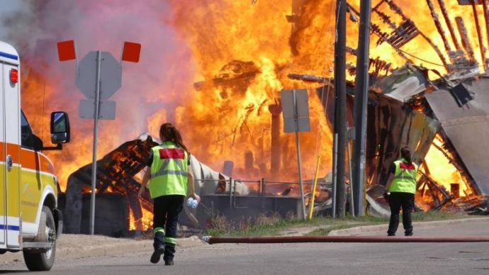 Пожар в Брандоне— один из сильнейших за всю историю города