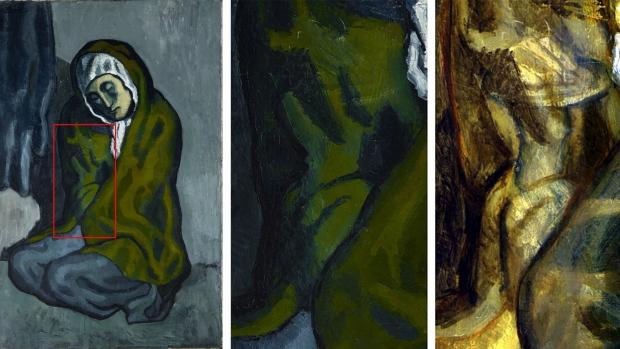 Трансформация Пикассо: одна картина под другой