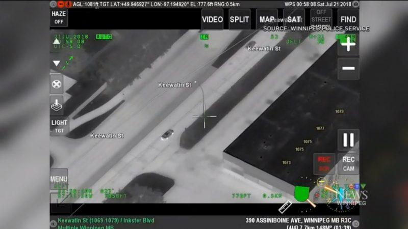 Голливудская погоня по Виннипегу: съемкa с полицейского вертолета