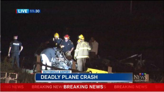В Маркхэме упал самолет. Пилот погиб