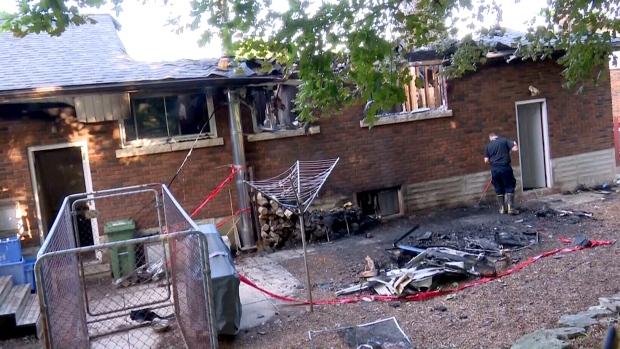 Пожар в Гамильтоне— сцена двойного убийства