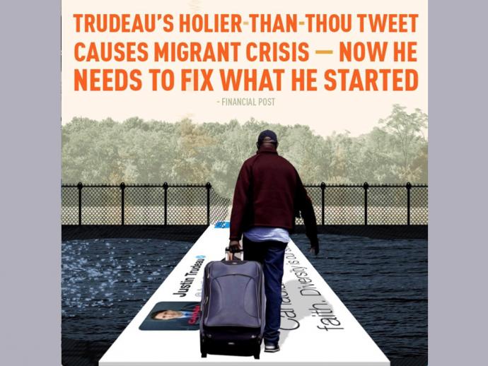 Консерваторы отказались от фото-карикатуры нелегальной миграции в Канаду