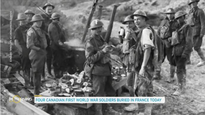 Четыре канадских солдата похоронены во Франции