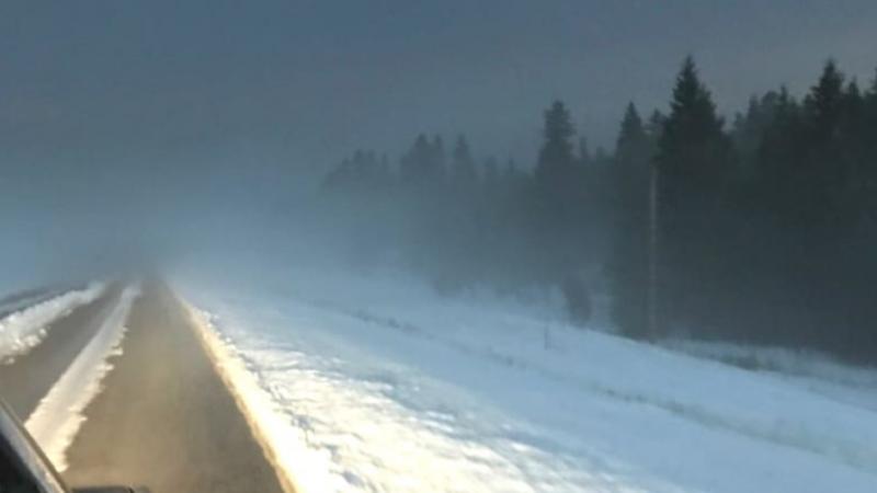 Зимняя езда в разгар лета: снег и град в Альберте
