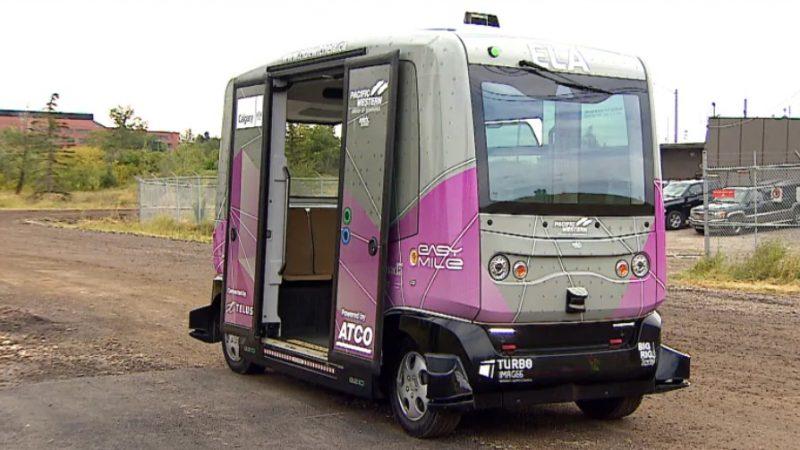 Пилотный проект— беспилотный автобус в Калгари