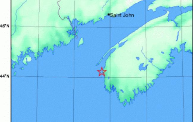 Землетрясение в Новой Шотлании