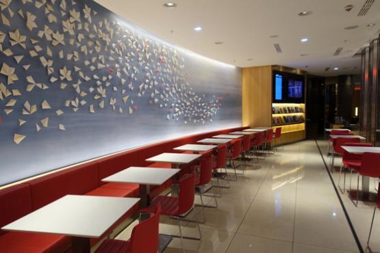 Новый престижный салон отдыха Air Canada