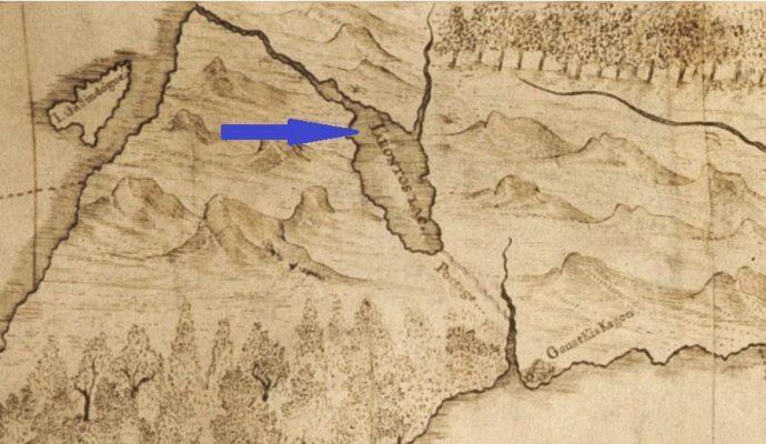 «Озеро Таронтас»— название на канадской карте XVII века