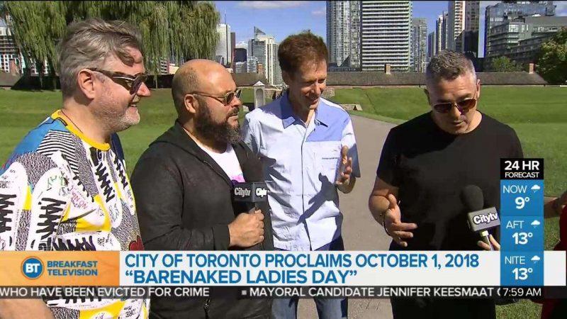 1 октября— день Barenaked Ladies в Торонто