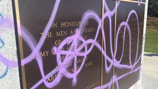 Вандалы осквернили памятник канадским морякам