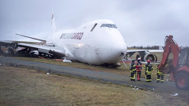 В Галифаксе с полосы сошел грузовой Boeing 747