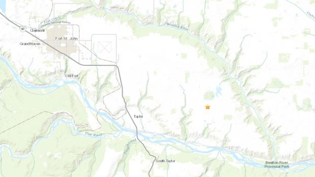 На западе Канады произошло землетрясение