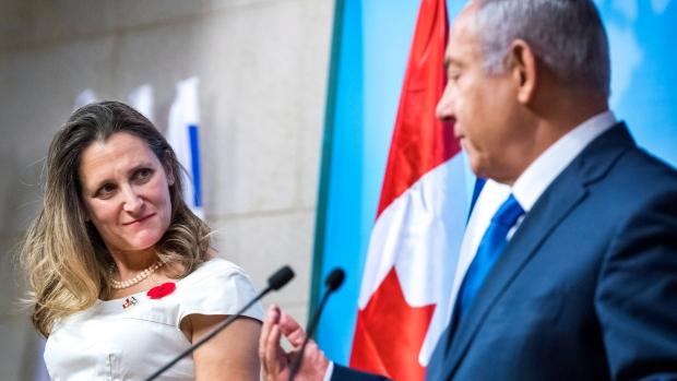 Христя Фриланд заверила Израиль в полной поддержке Канадой
