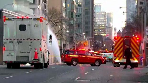 Серьезная утечка газа в центре Торонто