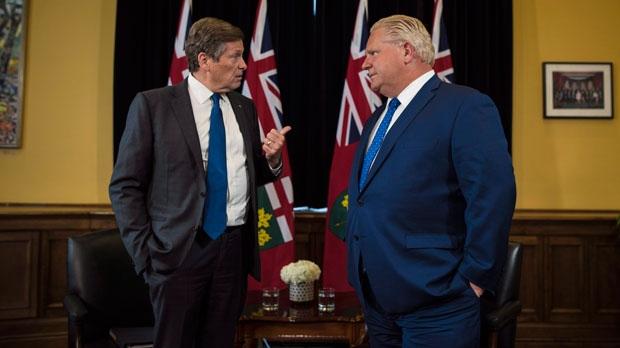О чем говорили сегодня мэр Торонто и премьер Онтарио?