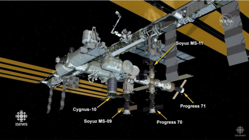 Экипаж «Союза» с канадцем прибыл на МКС