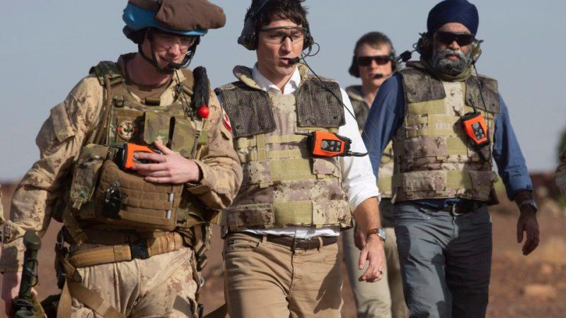 Канадский премьер навестил солдат в Мали