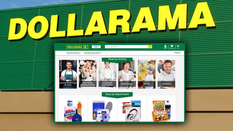 Dollarama: можно онлайн, но оптом