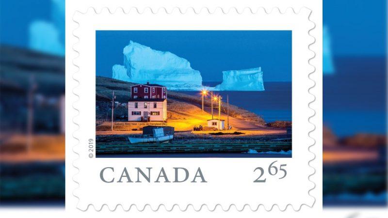 Прекрасный айсберг на канадской марке
