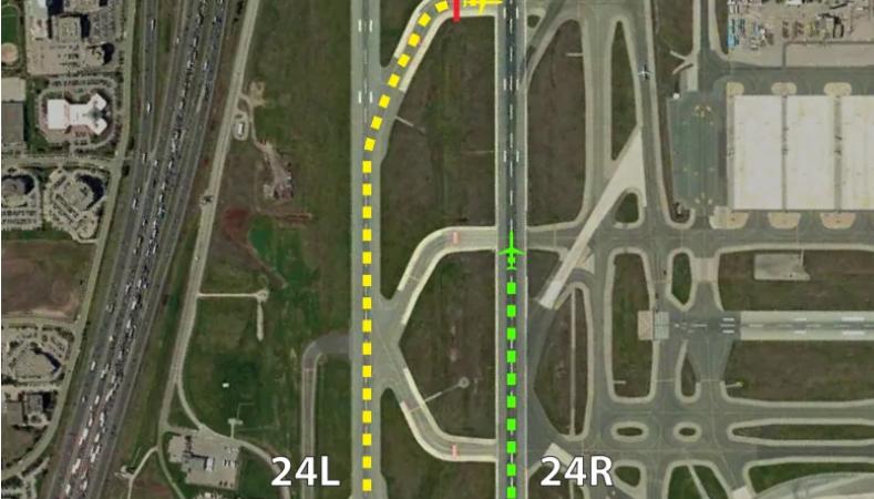 Международный аэропорт в Торонто: две полосы следует изменить