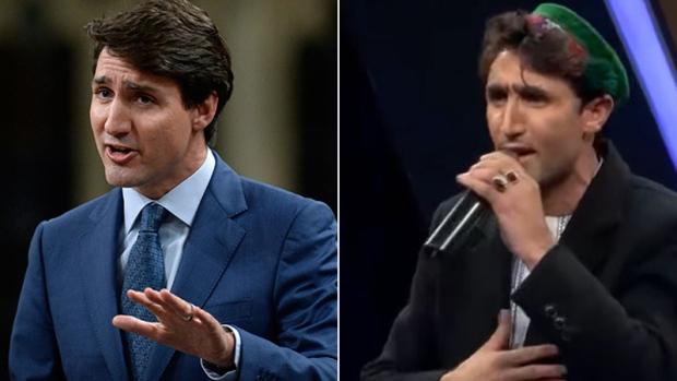 Афганский певец и канадский премьер похожи, как две капли воды