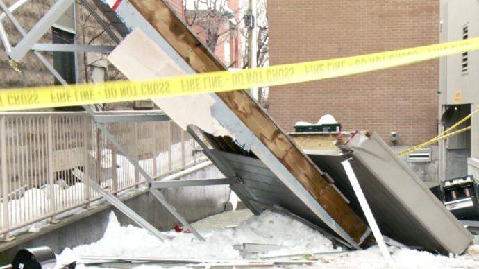 В канадской столице обрушились балконы жилого дома