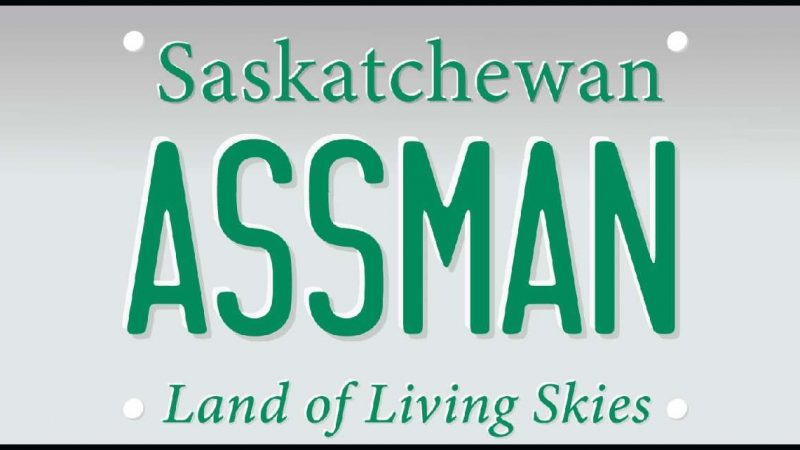 Канадцу с фамилией Ассман запретили писать ее на автомобильных номерах