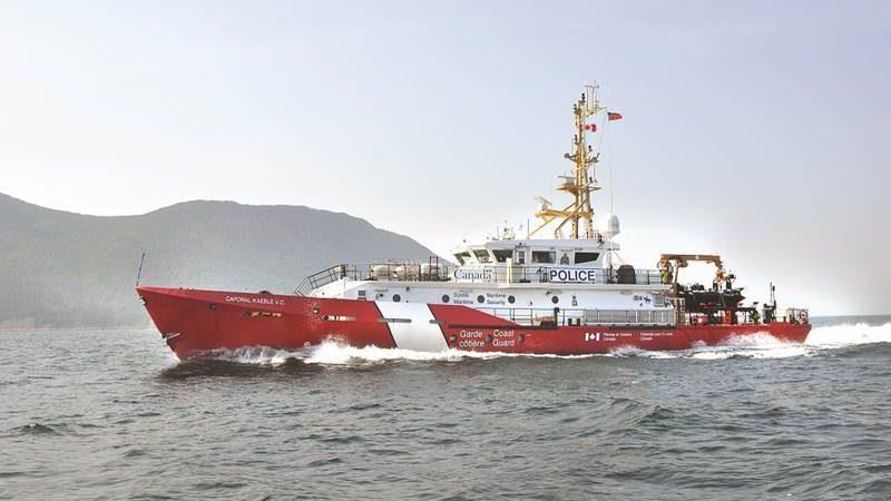 На новых кораблях береговой охраны Канады «штормит» без шторма