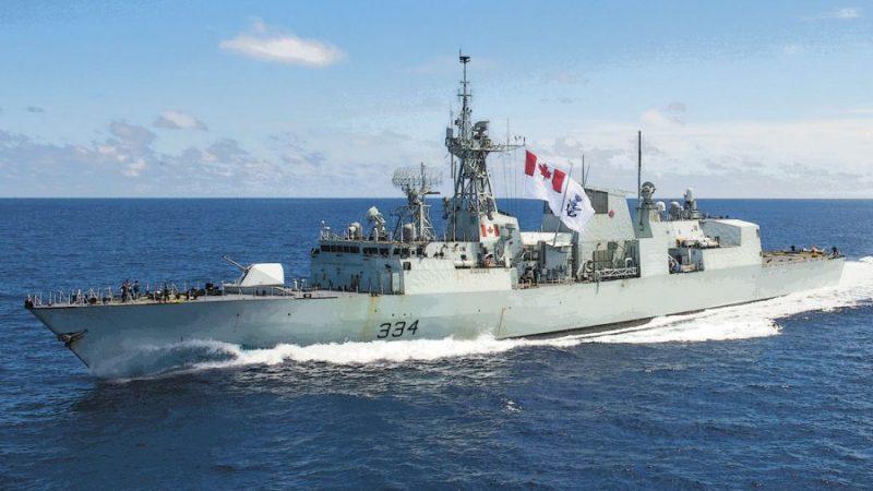 На борту канадского фрегата в походе— наш соотечественник