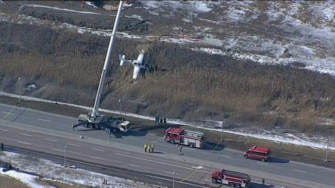 Во вторник возле аэропорта Баттонвиль упал самолет
