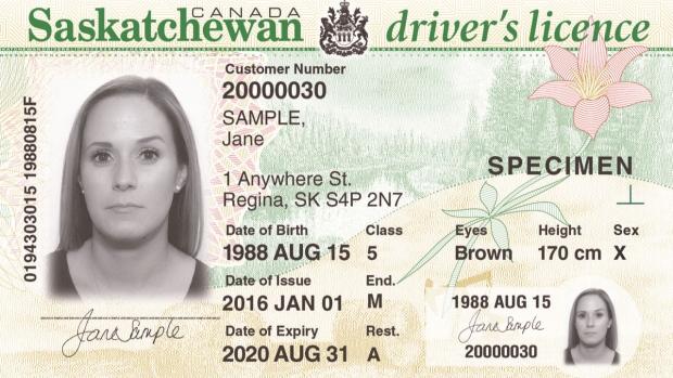 Саскачеван: eще один «х» в графе «пол» в водительских правах