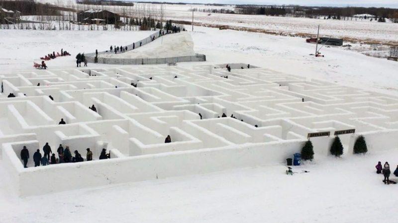 Канадский снежный лабиринт побил рекорд Книги Гиннесса