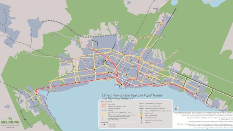 Онтарио отпустит на транспортные сети Большого Торонто $28.5 миллиардa