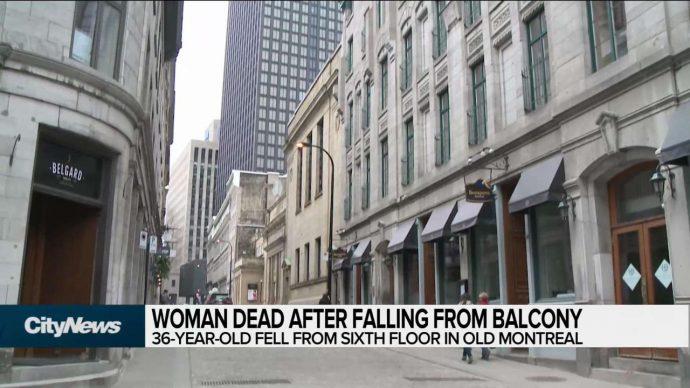 В центре Монреаля с балкона выпала женщина