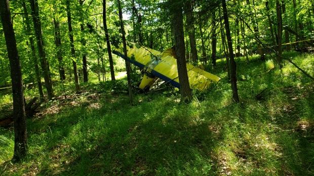 На Маскоке упал самолет. Пилот и пассажир— в порядке