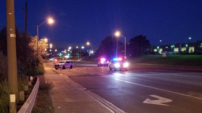 На севере от Торонто полицейская машина сбила пешехода