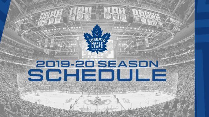 Toronto Maple Leafs опубликовали график нового сезона