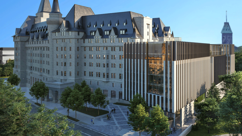 Проект пристройки к отелю Chateau Laurier вызвал скандал